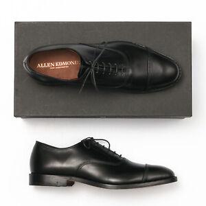 Allen Edmonds Park Avenue Black Leather Cap Toe Oxfords - Men's 11 D