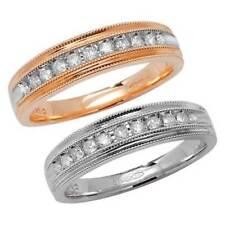 Anillos de joyería con diamantes aniversario de oro amarillo