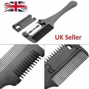 Hair Trimming Razor Comb Grooming Blade Trimmer Hairdressing Cutting Shape Tool