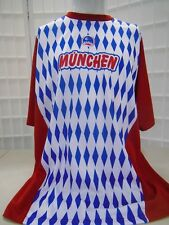 Xara Men's Red Blue White Munich Graphic Short Sleeve Shirt Sz Xl