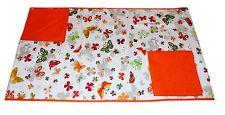 Tovaglia RUNNER cotone x 2 + 2 tovaglioli farfalle arancio