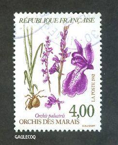 FRENCH POSTAGE - O. PALUSTRIS ORCHIS DES MARAIS STAMP 4,00 LA POSTE FRANCE 1992