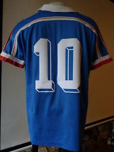 Maillot Equipe de France domicile 1986 / 86 - Platini 10 - Taille M - officiel