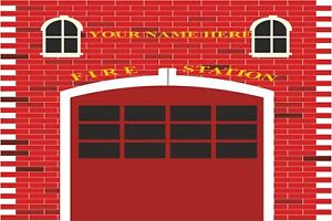 Fire Station Engine Fireman Sam Wall Stickers Mural Decal Wallpaper FS3