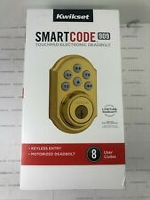 Kwikset Smart Code 909 Touchpad Electronic Deadbolt - Gold 99090-017