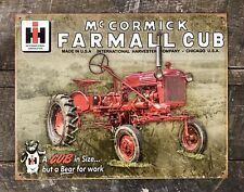 McCormick Farmall Cub Tractor International Harvester Classic Tin Metal Sign