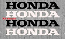 "4x Honda Logo 4"" 2 White & 2 Black Vinyl Decal Sticker Civis Accord CRX Mugen"