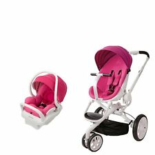 Quinny Moodd Travel System in Pink Passion with Stroller & Mico Max 30 Car Seat!