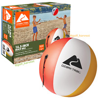 """Ozark Trail Inflatable 16.5"""" Beach Ball w/ Tether Rope, Multicolor - NEW/SEALED"""