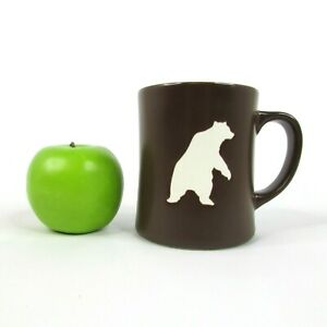 2010 Starbucks Organic Yukon Blend 16 Oz Brown Mug Etched BEAR Coffee Cup