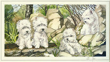 """WEST HIGHLAND WHITE TERRIER WESTIE DOG FINE ART LIMITED EDITION PRINT - """"Rocks"""""""