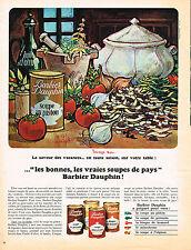 PUBLICITE  1966    DAUPHIN BARBIER  potage soupe au pistou