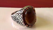 Tiger Eye 925 sterling silver ring  size Z