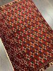 ca.1920 Wonderful old antique Turkmen Tekke rug 3x4.7 ft