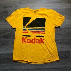 Kodak Mens XL Logo T Shirt 100 Cotton Yellow
