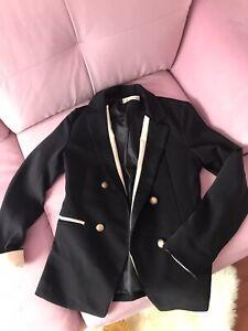 Black Made In Korea Blazer With Nude Trim