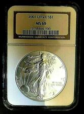 """Rare"" 2001 1oz.Silver Ms-69 Walking Liberty Collector Addition Silver Dollar"