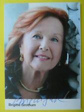 -aa- Brigitte Grothum, Autogrammkarte