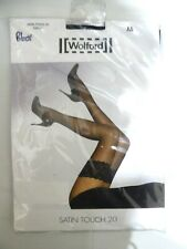 Wolford Stay ups Satin Touch 20 Medium Black Lace Hold ups