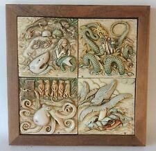 Harmony Kingdom Picturesque Noah's Park 4 Sea Creatures w/ Frame & Boxes ExC #1