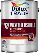 Dulux Trade Weathershield Gloss Pure Brilliant White & Black All Sizes & Colours