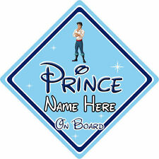 Personalised Disney Prince On Board Car Sign – Little Mermaid Prince Eric