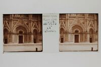 Todi Cattedrale N2 Italia Placca Da Lente Stereo Vintage 1938