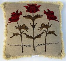 """Set of 2 Gorgeous Embroidered Decorative Pillows with Insert 20"""" x 20"""""""