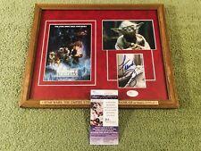 "FRANK OZ Signed (JSA) Autograph ""STAR WARS: YODA"" Framed Photo Display psa bas"