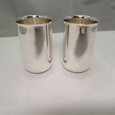 Wilkens 2 elegante strenge Becher Silber 800 punziert h: 11 cm