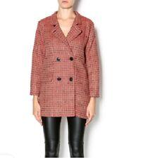 Umgee Red Tweed Blazer Coat Jacket Size Large