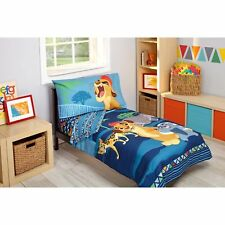 New Disney Junior The Lion Guard 4 Piece Toddler Bed Set Quilt Sheets Case NIP
