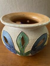 Mexican Studio Art Pottery Ceramic Vase - Handmade In Oaxaca - NWT