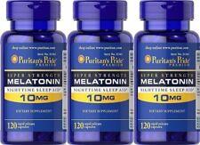 360 Capsules Puritan's Pride SUPER STRENGTH Melatonin 10 mg-Nighttime Sleep Aid