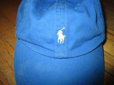 POLO RALPH LAUREN BABY TODDLER BASEBALL CAP vtg Embroidered Logo Blue OS