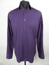 HUGO BOSS VGC Purple Shirt | Mens M | Retro Vintage Tee Top Smart Casual