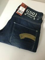 G-Star Raw Heller Low Straight Fit Dark Aged Blue W30 L32 BNWT Button fly