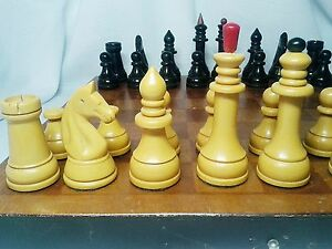 Vintage USSR 1960-70s plastic  Chess  complete  good condition  original
