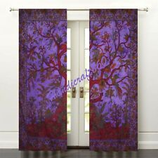 Indian Handmade Tai-N-Dai Ethnic Home Decor Life Of Tree Window & Door Curtains