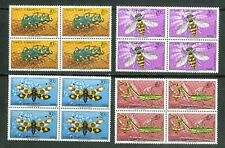 Turkey Stamps: 1981 Full set of Useful Insects; B184-7; Block 4, MNH &OG CV=$18