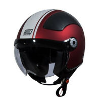 Origine Pilota Matte Flat Red White Gara Clear Visor 3/4 Open Face Helmet