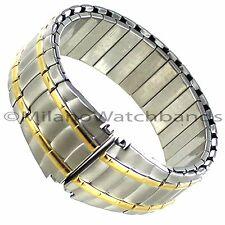 20-22mm Speidel Sport Metal Twist-O-Flex Silver Gold Tone Mens WatchBand 1663/16