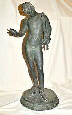 Preissenkung !!!! Bronzefigur Narziss, Antikenkopie (Pompeji), Neapel 1880 1900