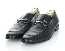82-63 Men's Sz 13 D Salvatore Ferragamo Leather Apron Toe Bit Loafer