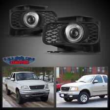 Fit Ford F-150 99-04 Clear Lens Pair Bumper Fog Light Lamp Halo Projector DOT