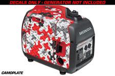 Decal Wrap For Honda EU2000i Skin Camping Generator Engine Sticker CAMOPLATE RED