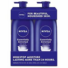 Nivea Essentially Enriched Lotion 21 oz 2 Pack Smooth Lotion Over Body Daily