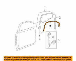 Door Window-Weatherstrip Molding Seal GENUINE GM 22853998 09-17 Traverse, Acadia