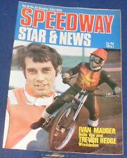 Speedway Star Magazine & News W/E 23rd October 1970