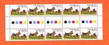 1980 Dogs of Australia 35c Australian Terrier Gutter Strip of 10 Mnh